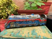 Antique Battery Oprated Train Engine Wind Up Tin Space Toy Japan Need Restore