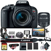 Canon Eos Rebel T7i Dslr Camera With 18-55mm Lens 1894c002 W/bag, Extra