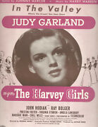 The Harvey Girls Sheet Music In The Valley Judy Garland