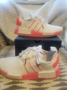 Adidas Nmd R1 Neon Pink And Whitesize 7.5 Women Authentic Free Shipping
