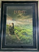 Signed The Hobbit Official Movie Poster 27x40 Framed Autographed