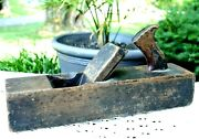 Antique Wood Plane Collectible Hand Tool Solid Wood Handmade 2 Stamped Names
