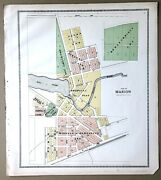 1918 Map City Of Marion And Mill Pond Wisconsin Ancestry Genealogy History