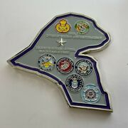 Chief Office Of Military Cooperation Kuwait - 1358 Challenge Coin-embassy Msg