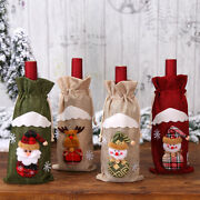 Christmas Wine Bottle Cover Table Ornament Home Decor Party Santa Holiday Gift