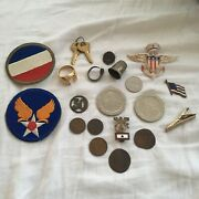Military Pins Coins Rings Casino Tokens Chips - Marines Army Air Force Patch Lot