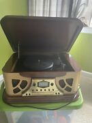 Spirit Of St. Louis Retro Look Record And Cd Player W/ Am/fm Radio