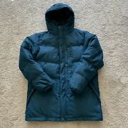 Eddie Bauer Teal Eb550 Goose Down Insulated Zip Puffer Jacket Winter Menand039s L Ec