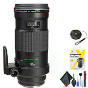Canon Ef 180mm F/3.5l Macro Usm Lens For Canon Ef Mount + Accessories Intl Mode