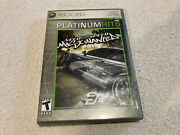 Need For Speed Most Wanted Microsoft Xbox 360, 2005 Game Disc, Case And Manual