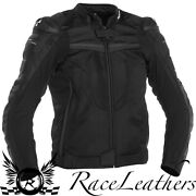 Richa Terminator Black Leather And Textile Waterpoof Motorcycle Bike Sports Jacket