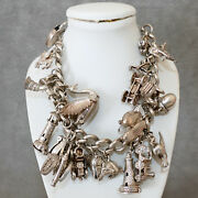 Jewelry Bracelet Sterling Silver .925 Charm Bracelet Movable And Opens 22 Small 7