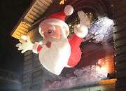 6m Hanging Inflatable Christmas Santa Claus For Entrance Door Decoration