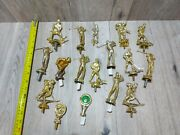 Trophy Topper Finial Lot Golf Hockey Baseball Pool Vintage 16 Assorted Pieces