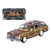 1979 Chrysler Lebaron Town And Country Burgundy 1/24 Diecast Model Car By Mot...