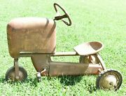 Antique Pedal Tractor Junior Trac Vintage Old Collectible Ride On Pedal Toy