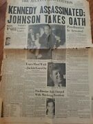 John F. Kennedy Ajc Front Page Assasination Newspaper Front Page