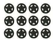 Set Of 12 Rustic Brown Western Star Cast Iron Cabinet Knobs Or Drawer Pulls