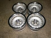 1967-1987 Chevy Gmc 2wd Truck Rally Wheels 4 Original Gm 15x8 With Rings And Caps