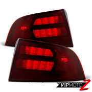 For 04-08 Acura Tl | Type-s Dark Red Rear Tail Lights Lamps Pair Assembly Pair
