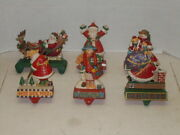 Midwest Of Cannon Falls Lot Of 6 Cast Iron Christmas Stocking Holders Nice