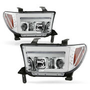 For 07-13 Toyota Tundra Led Neon Drl Tube Sequential Signal Projector Headlight
