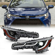 For 20-21 Toyota Corolla Se+xle+xse Led Drl Projector Headlights Headlamps Pair