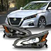 [black] For 19-21 Nissan Altima High Beam Assist Led Drl Projector Headlight Set
