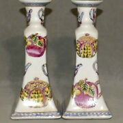 Candle Holder Decoration Accent Oriental Teapots Pair Ranaand039s Usa Seller