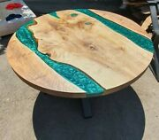 52 Epoxy Resin Wooden Table Top Coffee Table / Center Table Top Home Decor