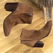 Dolce Vita Stunna Brown Suede Booties Boots Size 7m