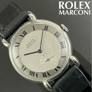 Rolex Marconi Manual Winding Men's Watch Vintage Silver Dial Antique F/s