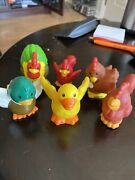 Little People Farm Animals Lot Of 6 Duck Chicken Replacement B18