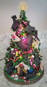 Rare Danbury Mint Scottish Terrier Christmas Tree With Lights And Cord And Box
