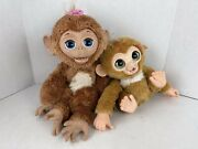 """Hasbro Furreal Friends Cuddles My Giggly Monkey Interactive Pet 2012 18"""" And 12"""""""