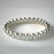 1.25 Carat Stunning Diamond Engagement Bands 14k Solid White Gold Size 5 6.5 7 8