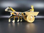 Vintage Horse And Cart Antique Toy