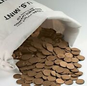 Bag Of 5000 Lincoln Wheat Penny Cents Pennies 50 Face Value Coins