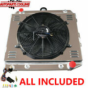 4 Row Radiator+shroud+fan+relay For 70-73 Dodge Plymouth Small Block 22-wide