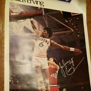 Rare Julius Erving Dr. J Sports Illustrated Poster - 76 Sixers 1977