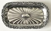 Antique Gorham Sterling Silver Applied Rococo Border Small Oval Dresser Tray