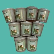 New Lot Of 9 Yankee Candle Holiday Bayberry Votives Htf