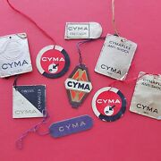 Cyma Watch Hang Tags Vintage Display Dealer Chronograph Diver Gents