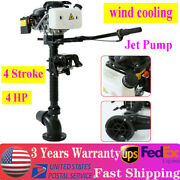 Jet Pump 4 Stroke 4hp Outboard Motor Fishing Boat Engine Cdi+wind Cooling System