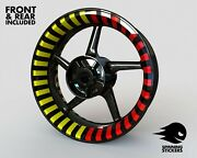 Wheel Stickers Thin Stripes Edition Rim Tape Motorcycle Decals Graphics 17