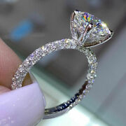 Round Cut 1.70 Ct Christmas Sale Real Diamond Ring 18k White Gold Size 5 6 7 8.5