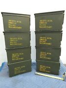 Eight Qty - 50 Cal Ammo Cans Good Condition No Dents Made In Usa Free Ship
