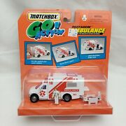 New 1999 Matchbox Go Action Fast-savin Ambulance With Accessories 143 Vintage