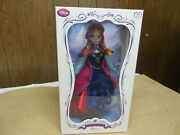 Disney Limited Edition Anna With Traveling Outfit Doll