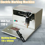 110v Metal Label Printer Table Electric Marking Machine Name Plate Tags Engraver
